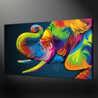 ABSTRACT ELEPHANT QUALITY CANVAS PRINT PICTURE WALL ART
