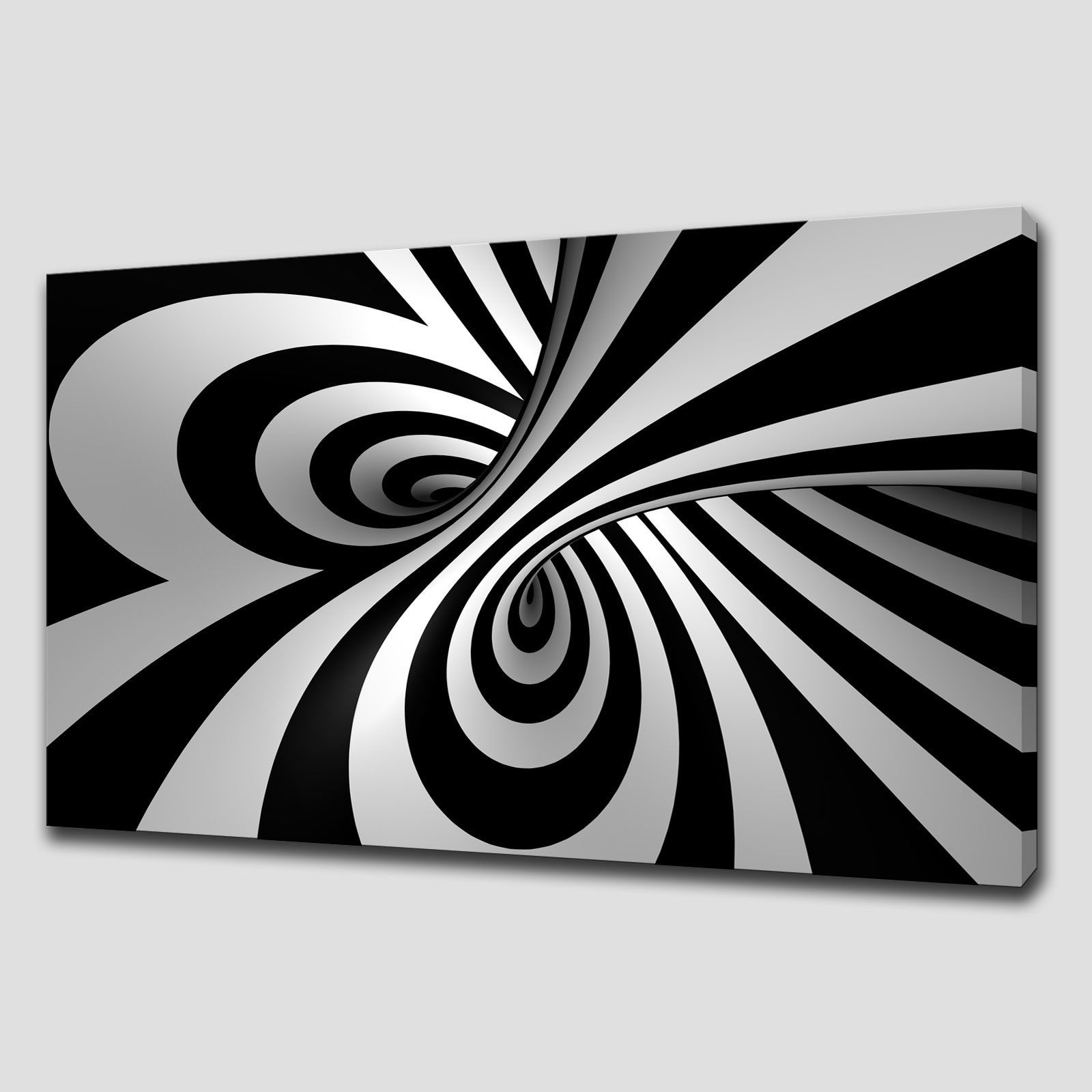 Black And White Canvas Prints Abstract Spiral Large Canvas Print Wall Art