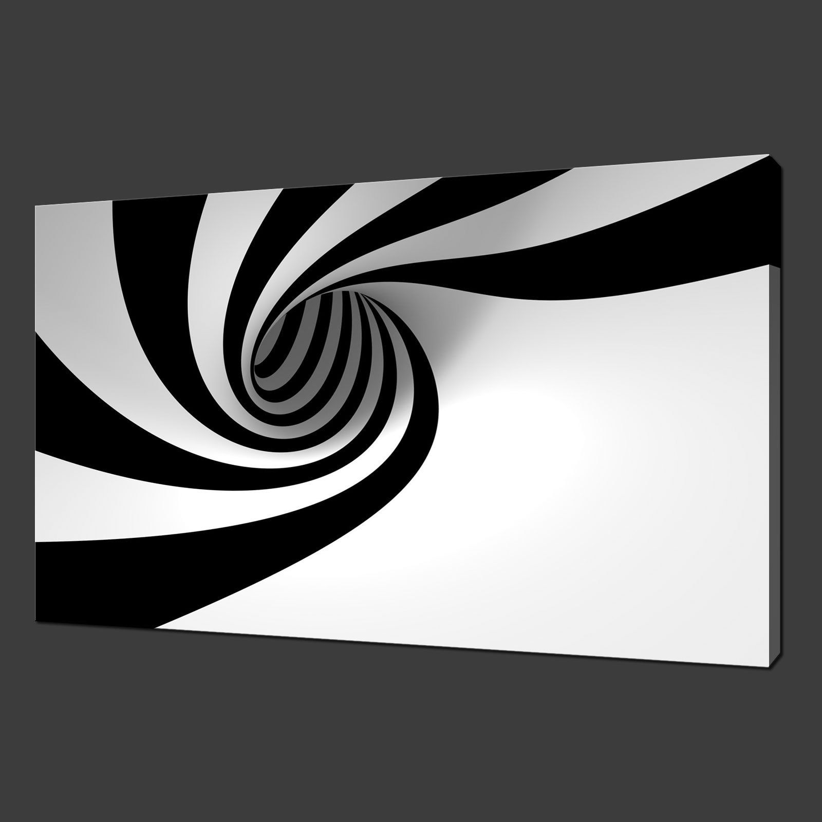 Black And White Canvas Pictures Black White Swirl Modern Wall Hanging Picture Canvas Print 20