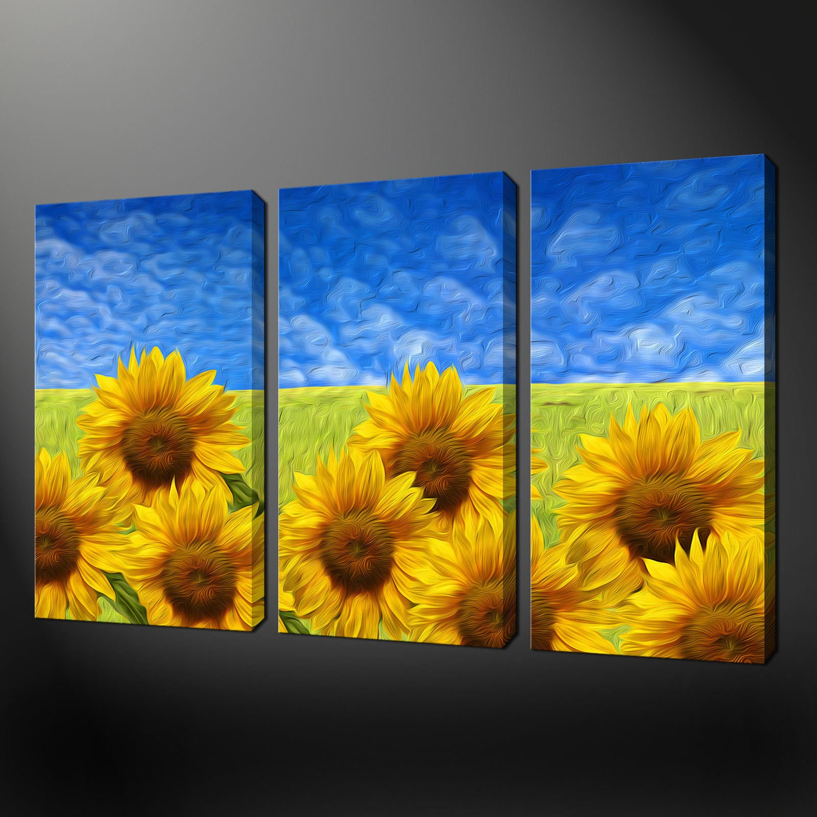 Canvas Wall Prints Sunflower Field Canvas Wall Art Pictures Prints Free Uk P