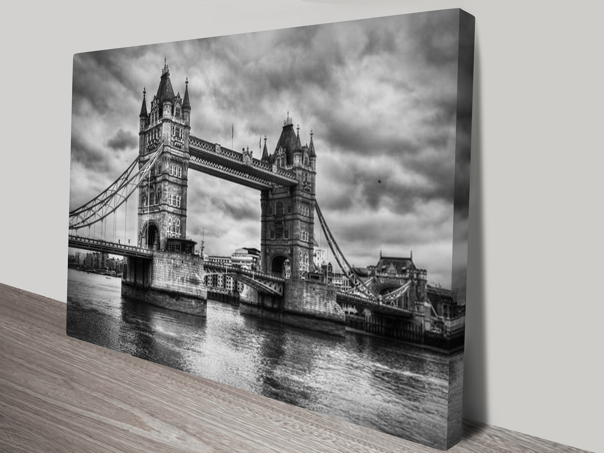 Black And White Canvas Prints London Bridge Black And White Canvas Art Print