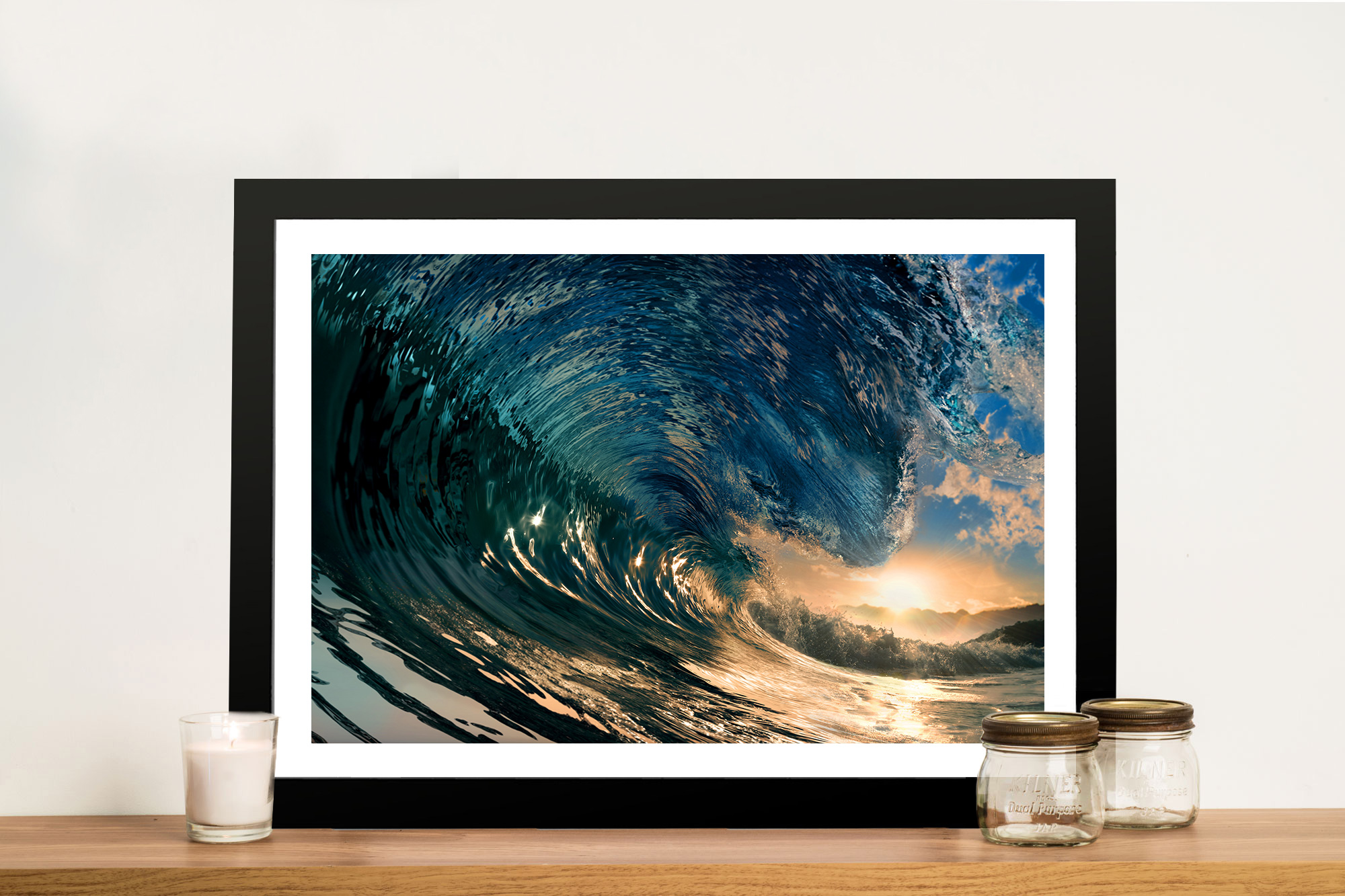 Wall Prints Crystal Waves Surf Art And Seascape Prints And Framed