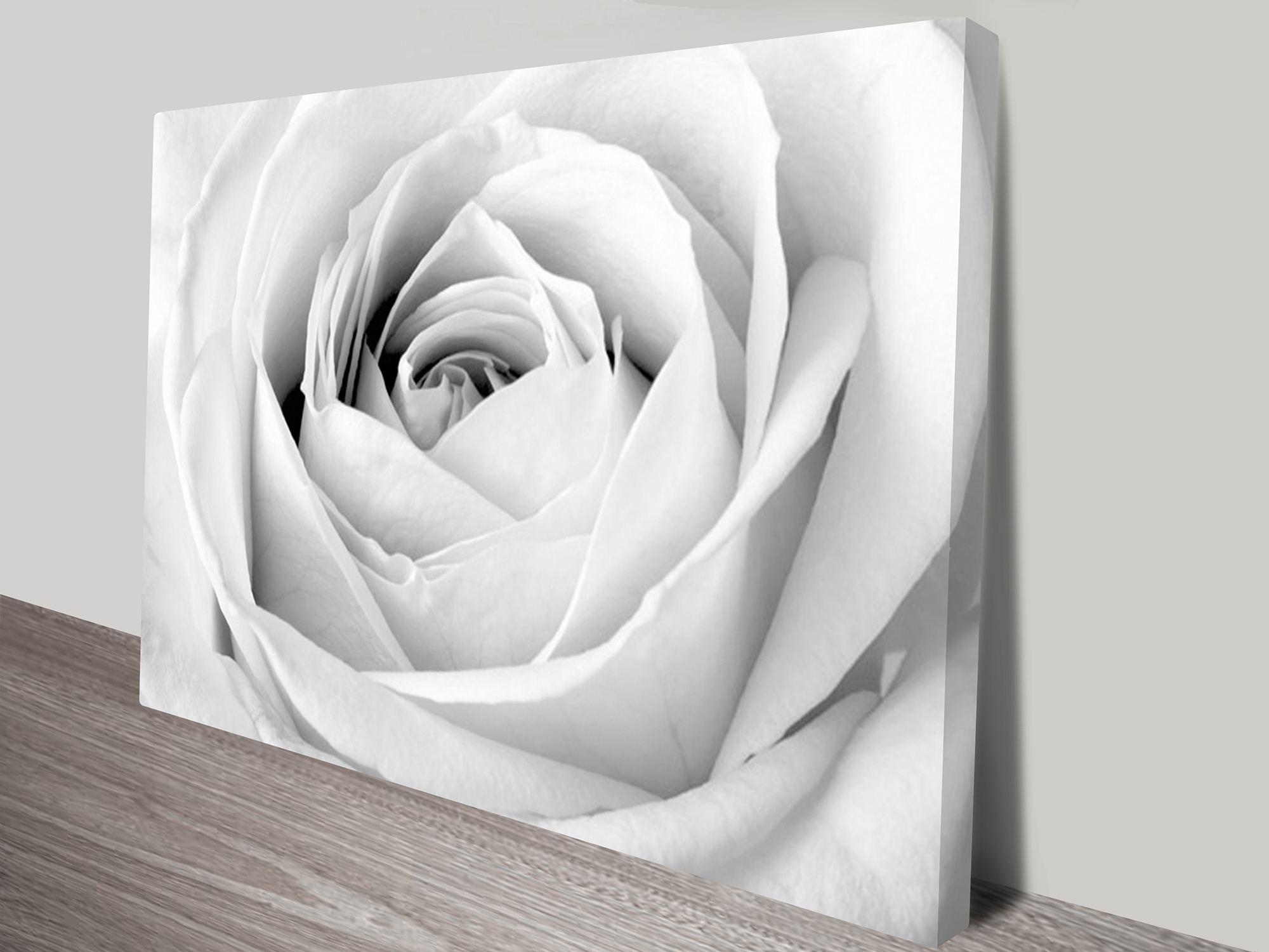 Black And White Canvas Prints Rose Floral Black And White Canvas Art Print