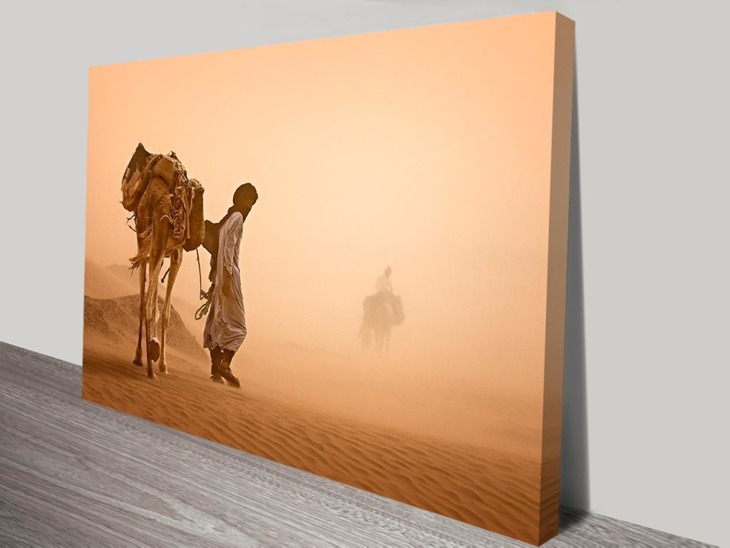 Cheap Canvas Pictures Crossing The Desert Cheap Photo Canvas Prints Sale Artwork