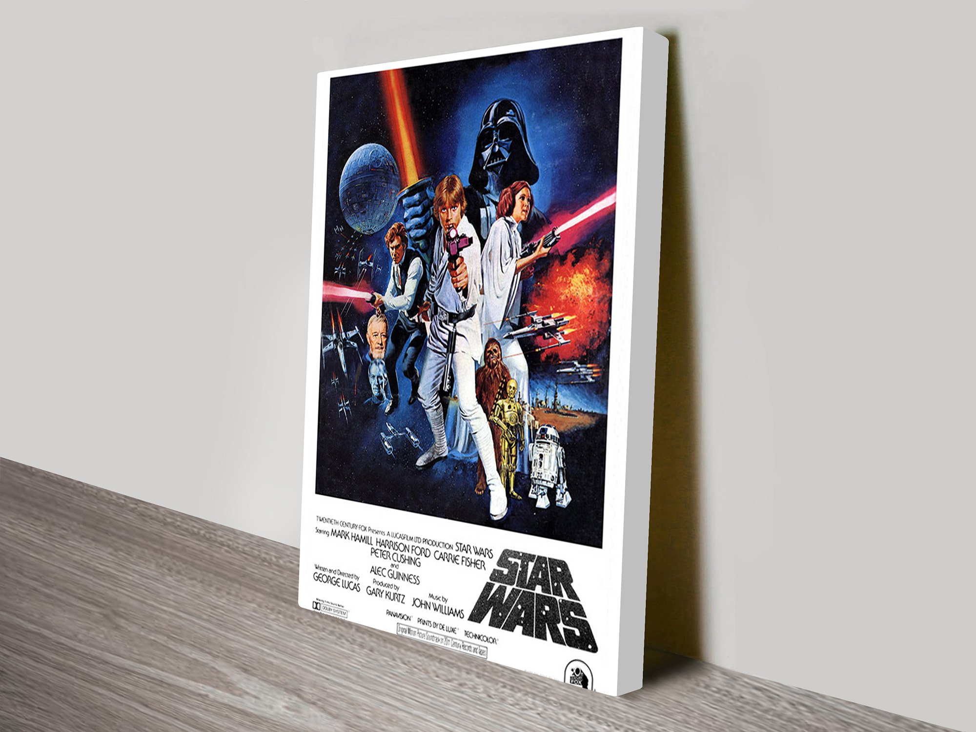 Poster Auf Leinwand A New Hope Vintage Poster Canvas Print