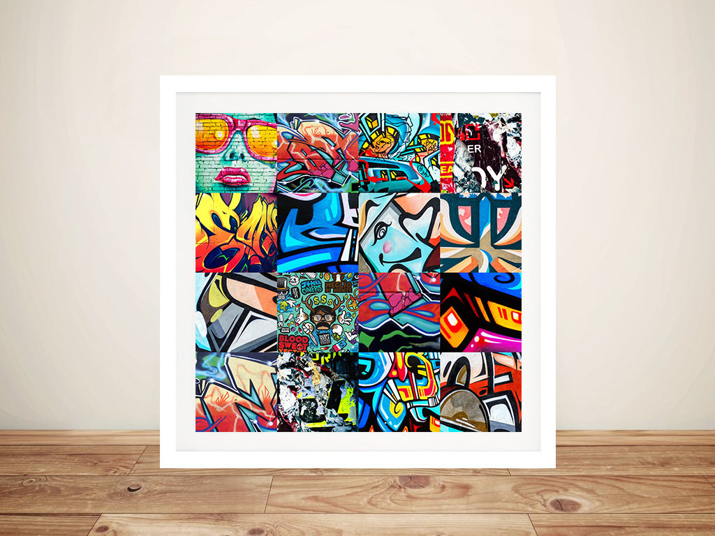 Collage Frames Australia Graffiti Collage Punked Street Art Print Picture Sydney