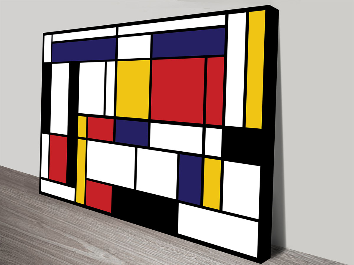 Mondrian Wall Piet Mondrian Tableau Canvas Print Online Gallery Brisbane