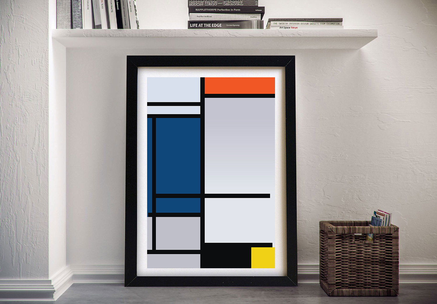 Mondrian Wall Piet Mondrian Composition Cheap Wall Art Canvis