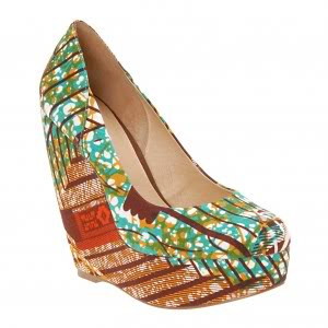 Aldo Forwood Wedge brown and teal