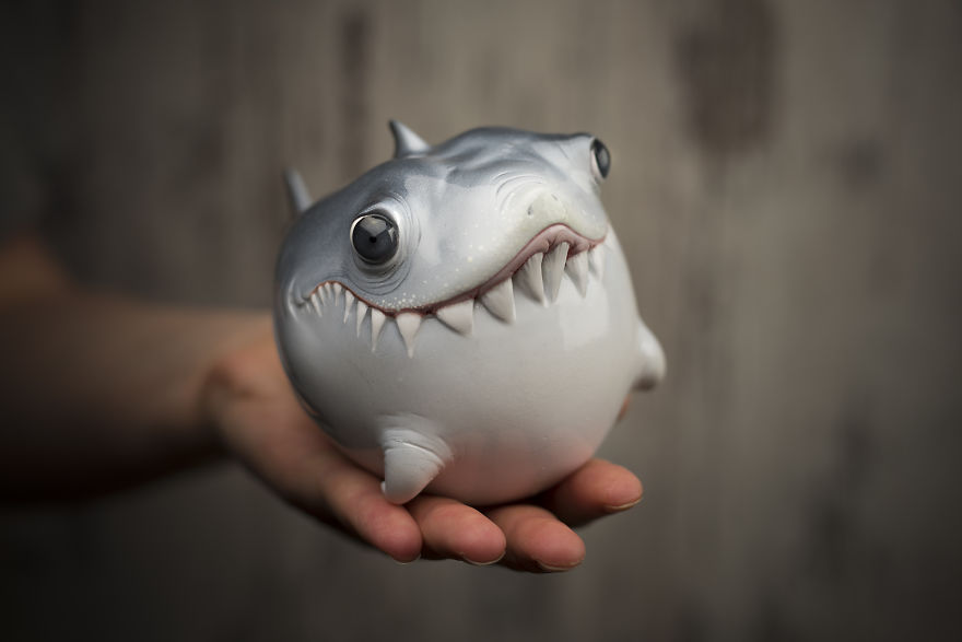 Oddly Cute Sea Creatures Sculpted From Polymer Clay