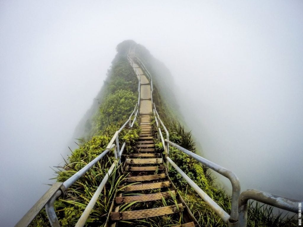 The Illegal Haiku Stairs Aka Stairway To Heaven In Hawaii