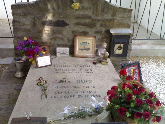 Tumba de Antonio Machado en Colliure (Francia).