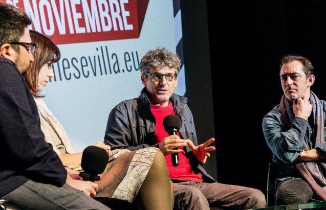 Miguel Ángel Rosales, durante la presentación de la película en Sevilla.