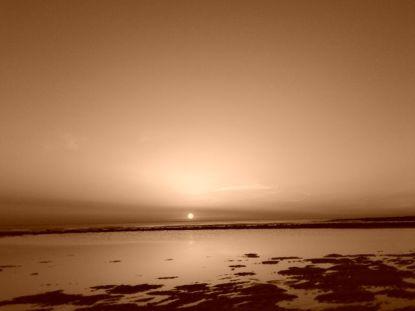 Puesta de sol en Zahora.
