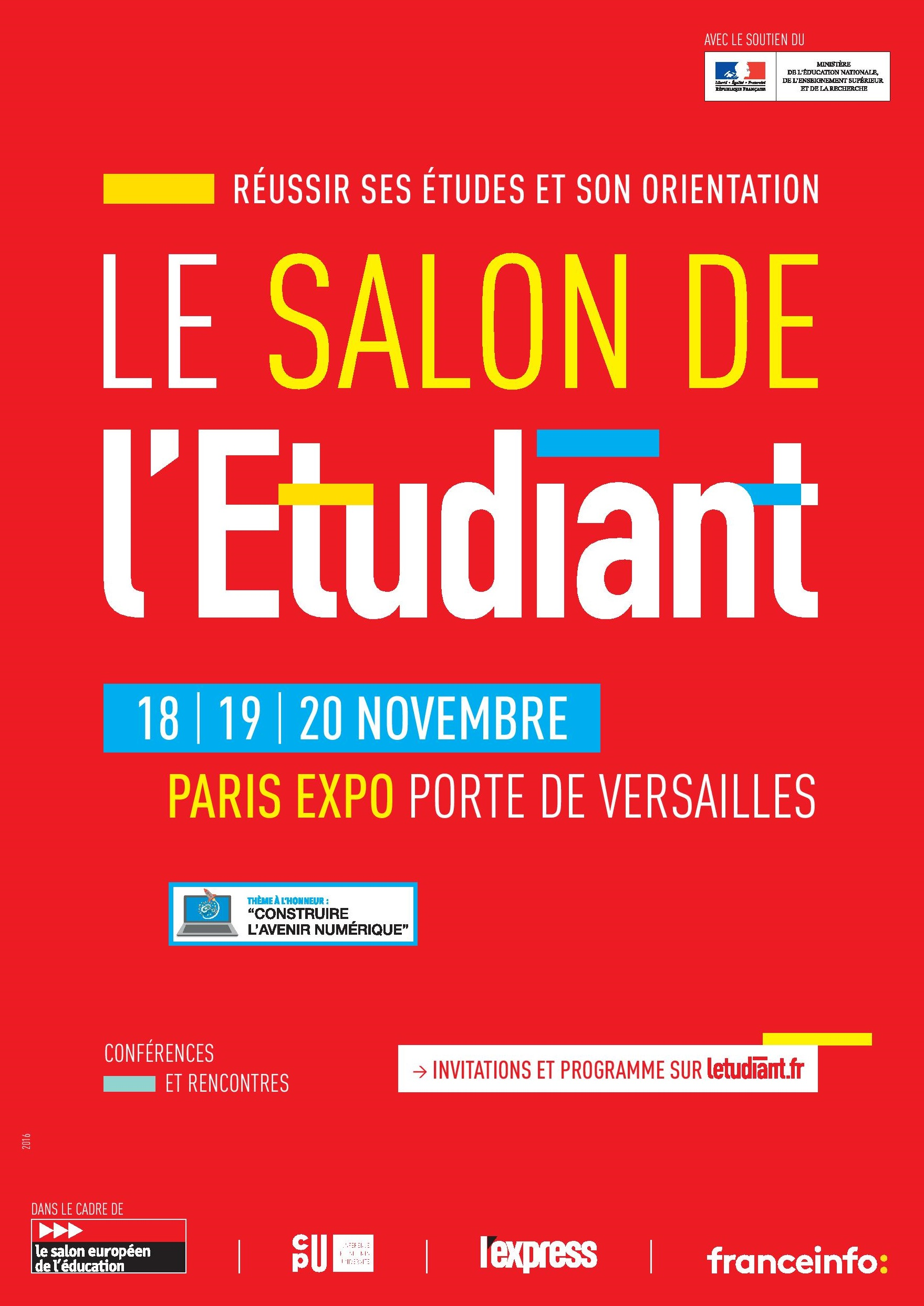 Salon De L Etudiant De Paris Salon De L Etudiant Paris Rdv Au Salon Européen De L 39education