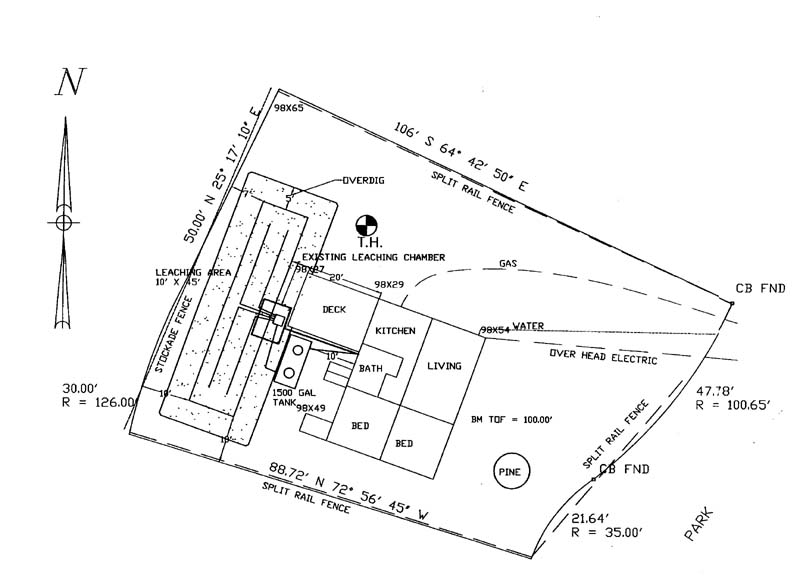 Park Drive Septic System - septic tank layout