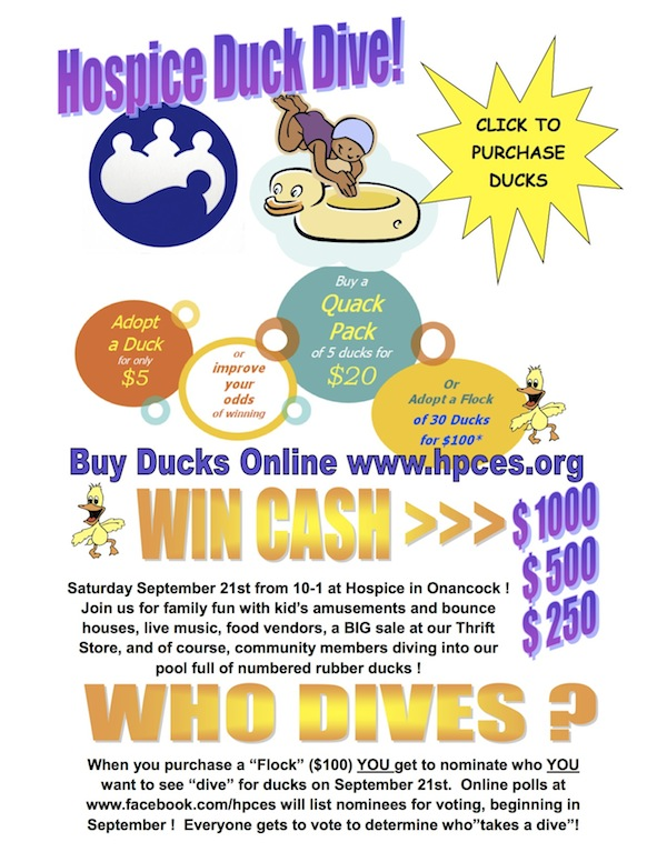 Cash Pool Worms Saturday 9/21: 'duck Dive' Hospice Fundraiser In Onancock