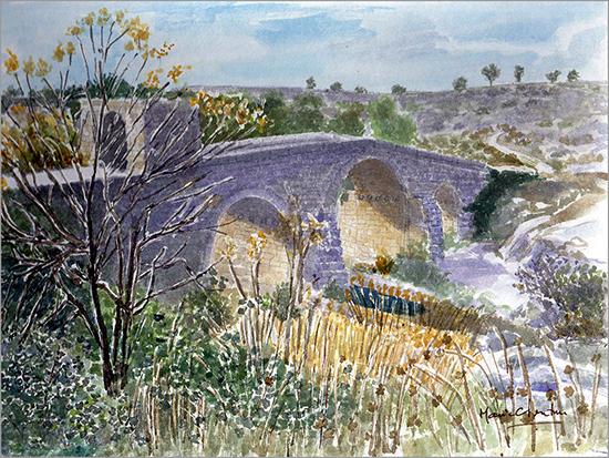 Ponte de Sequeiros - Pintura de Maria C. Ventura