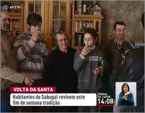 Crianças a fumar no Sabugal - RTP _ Capeia Arraiana
