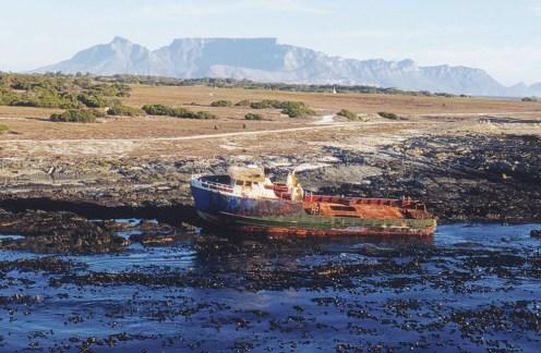 Many shipwrecks litter the shores of Robben Island