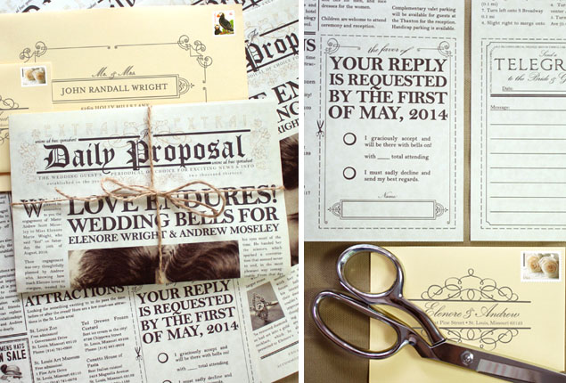 Cape Town Wedding Invites Newspaper