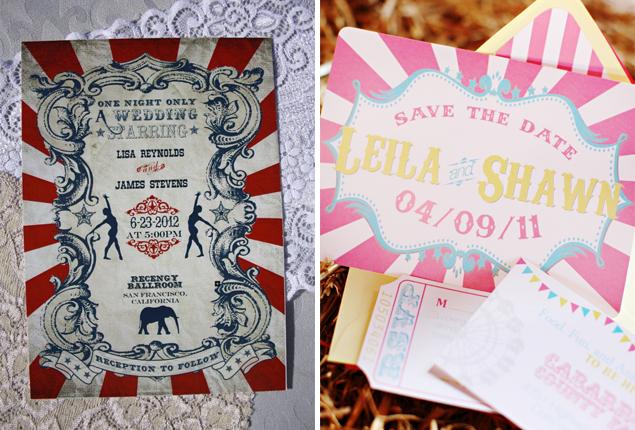 Cape Town Wedding - Circus Invite