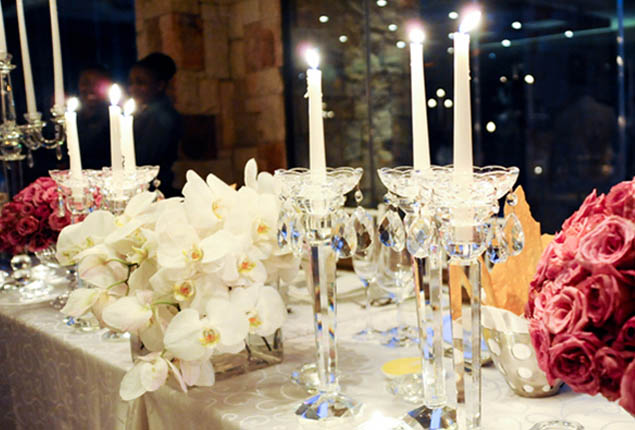 Cape Town Wedding Winter Candles