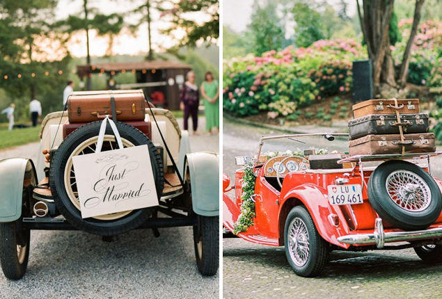 Cape Town Wedding Car Decor Suitcase