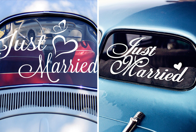 Cape Town Wedding Car Decor Vinyl