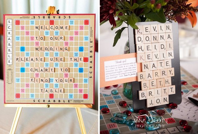 Cape Town Wedding - Scrabble Seating Plan