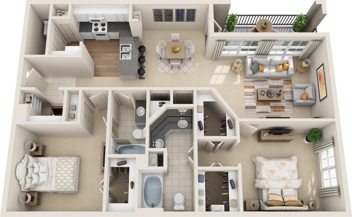 Garage Apartment In Houston Floor Plans At Estates At Memorial Heights Apartments Tx