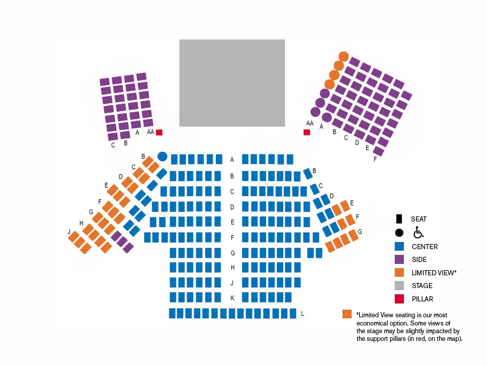 Seating Chart - Capital Rep Albany - LORT Theatre - seating chart