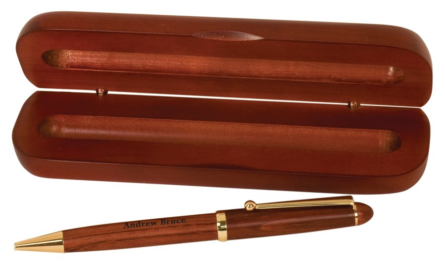 ROSEWOOD PEN  CASE SET Capitol Medals - rosewood case