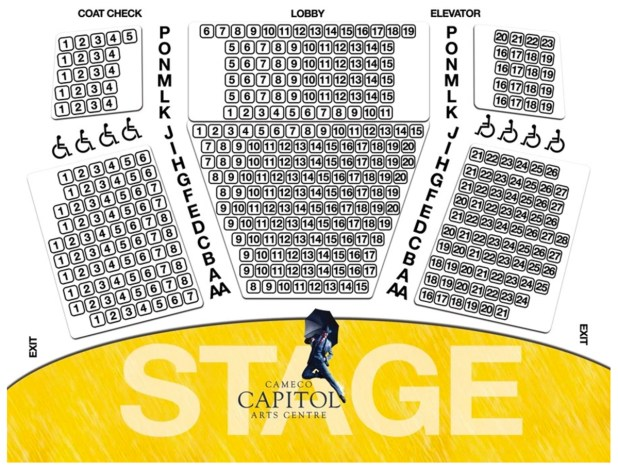 Seating Map Cameco Capitol Arts Centre Theater Clearwater