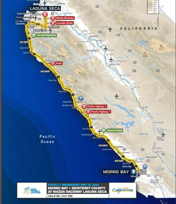Amgen Tour Map