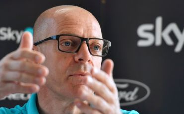 Team Sky director Sir Dave Brailsford gives a press conference at the team's hotel on the second rest day of the 2016 Tour de France cycling race on July 19, 2016 in Hilterfingen, Switzerland. / AFP / FABRICE COFFRINI        (Photo credit should read FABRICE COFFRINI/AFP/Getty Images)
