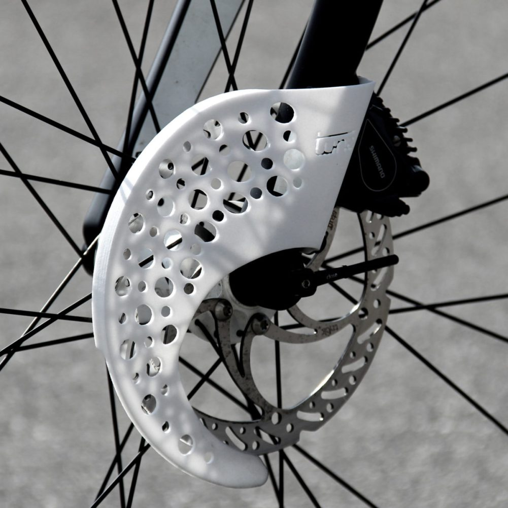 Tune_project-Disc-Sheath_lightweight-160mm-road-peloton-disc-brake-rotor-safety-cover-guard_front-gray