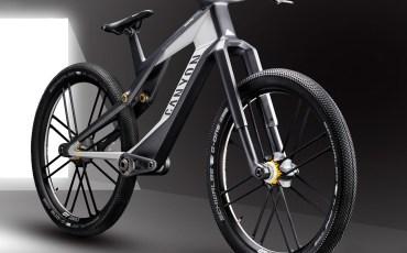 Canyon-Orbiter_urban-eMTB-concept-bike_magnetic-suspension_eMTB-prototype_Daniel-Frintz-design_front-3-4
