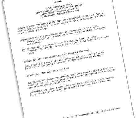 The Resume and a Shower - Cappy Rick\u0027s Wheelhouse