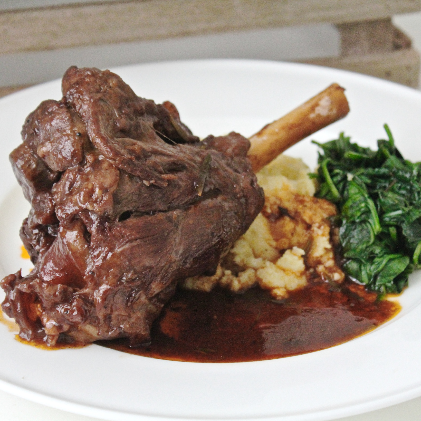 Lamb Meat Cooked Lamb Shank