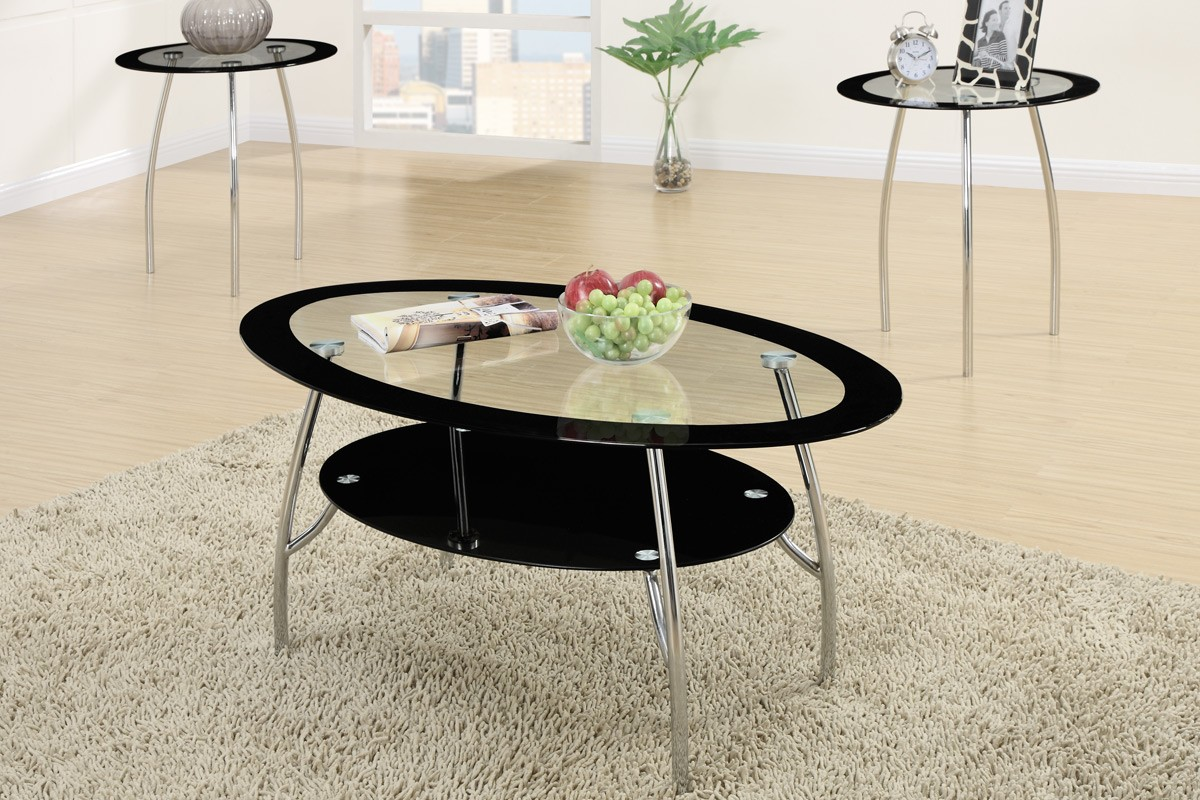 Glass End Tables Set Xio 3 Piece Tempered Glass Top Coffee Table End Tables Set