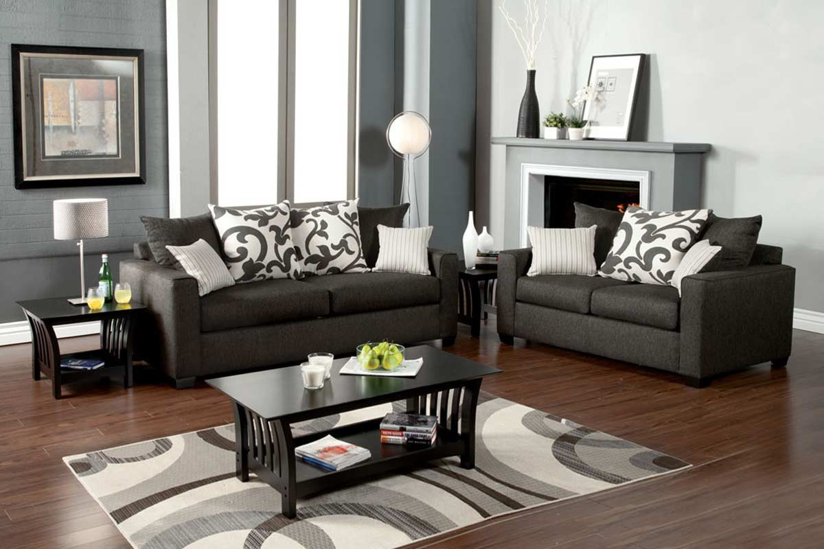 Sofa Set Grau Hermosa Sofa 43 Loveseat Set Gray Sofa Sets Living Room