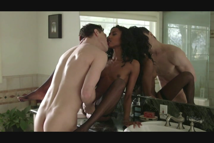 Stunning Black Babe Sucks and Fucks a Hung White Stud Starring: Bruce Venture Adriana Malao
