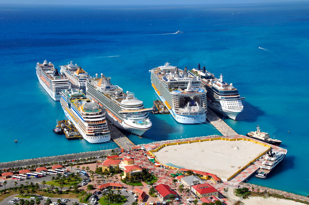 cruise Ships in St Maarten Port