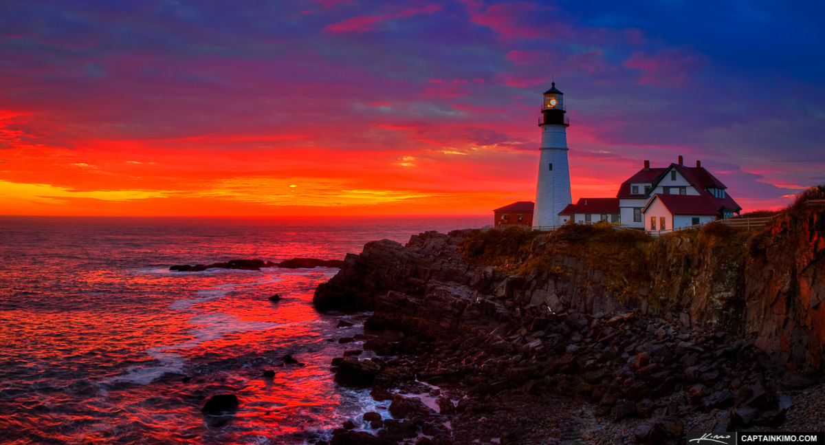 Portland Or Fall Had Wallpaper Portland Head Light Panorama At Cape Elizabeth Maine