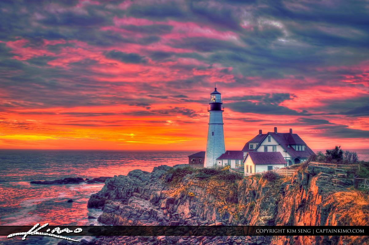 Free Fall Harvest Desktop Wallpaper Gorgeous Sunrise At Fort Williams Park Lighthouse