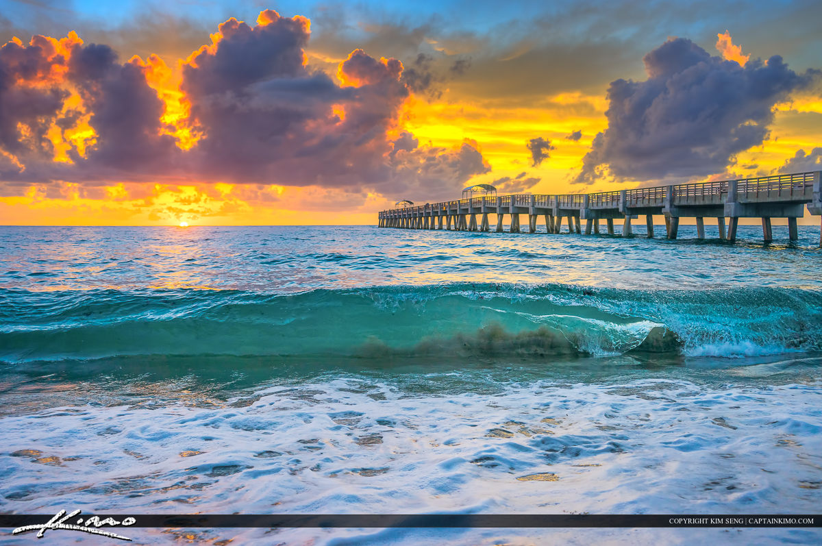 Hd Wallpaper Sea Beach Lake Worth Beach Sunrise Wave Break