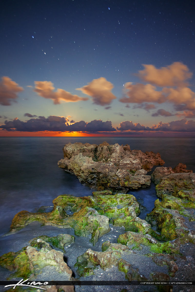 Adobe Images Search Moon Rise Coral Cove Park Over Atlantic Ocean Hdr