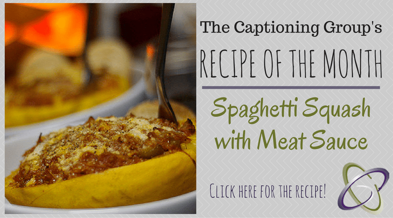 TCG Recipe of the Month: Spaghetti Squash with Meat Sauce – The ...