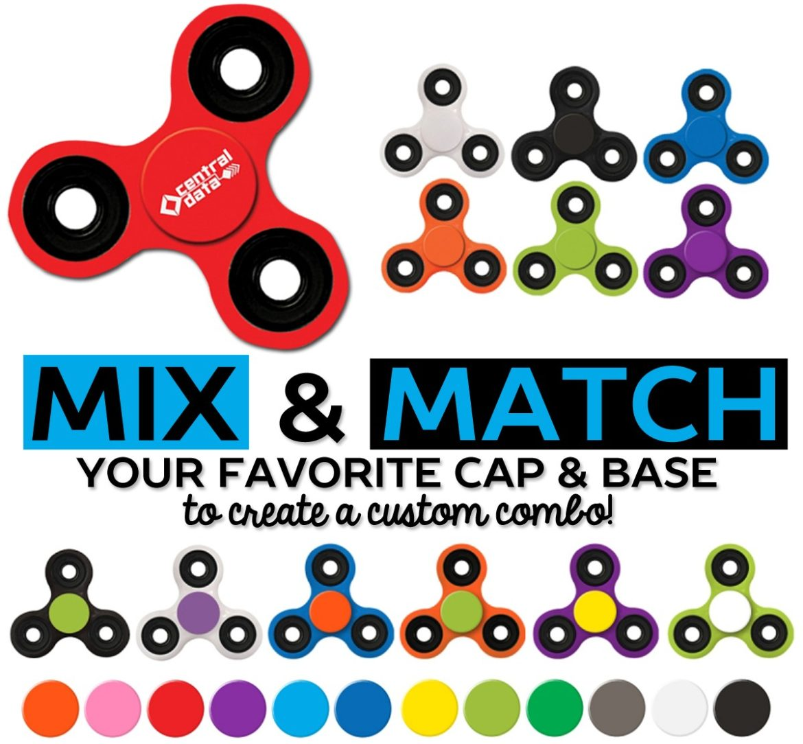 Mix And Match Mix Match Colors To Create Your Own Fidget Spinner Captiv8